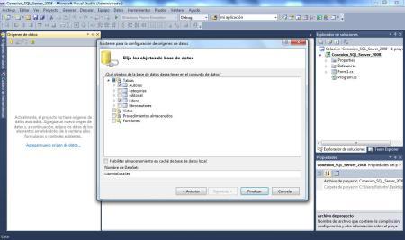 SQL Server 2008 Finalizando configuración de origen de datos
