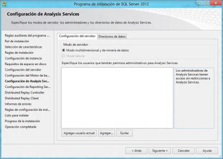 Configuracion Analysis Services